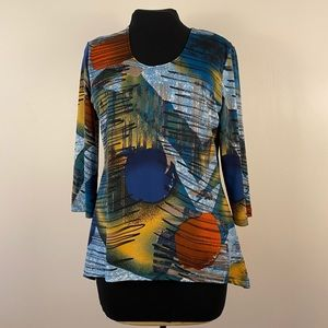 Colourful bright comfy graphic shirt stretchy